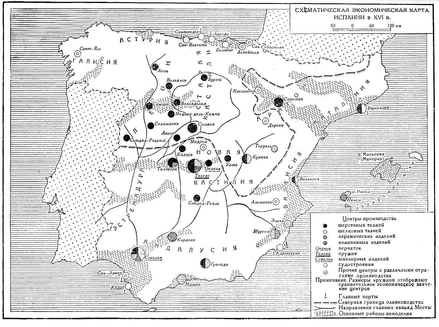 Экономика �спании в первой половине XVI века