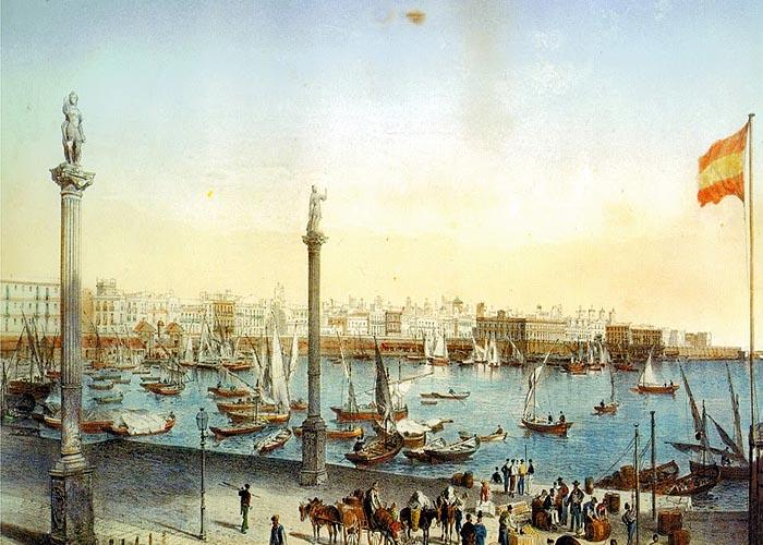 Порт в Кадисе в середине XVIII века