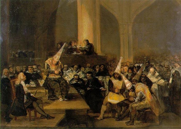 Трибунал инквизиции, картина Франсиско Гойи