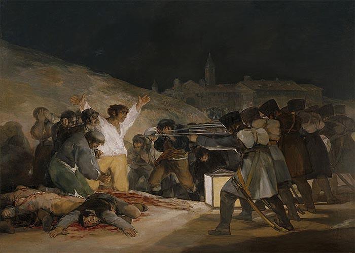 Расстрел французами мадридских повстанцев 3 мая 1808 г. - картина Ф.Гойи