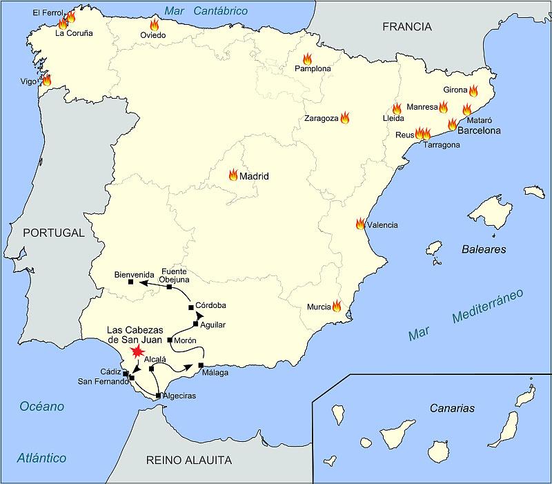 �спанская революция 1820 г.