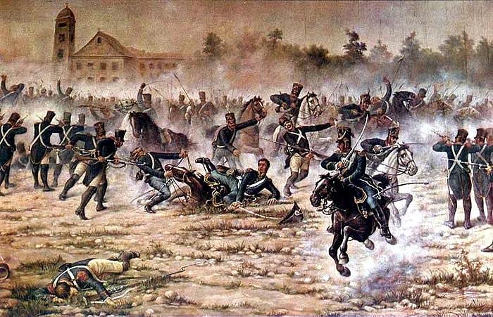 Борьба за независимость испанских колоний (Битва в Сан Лоренцо)