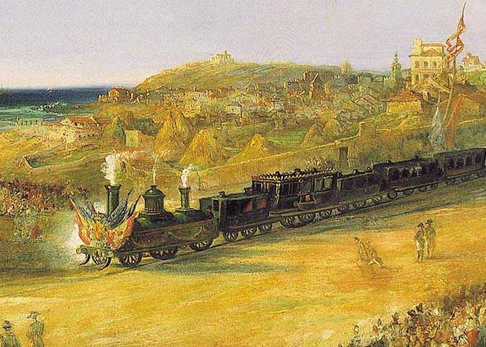 Открытие железной дороги в Лангрео (1852 г.)