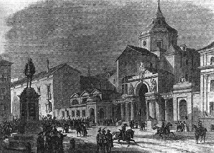 Дворец кортесов  в середине XIX века