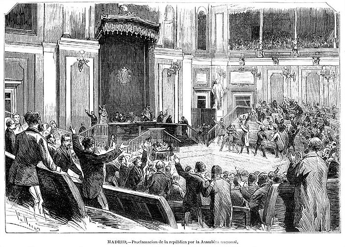 Провозглашение республики Национальным Собранием �спании