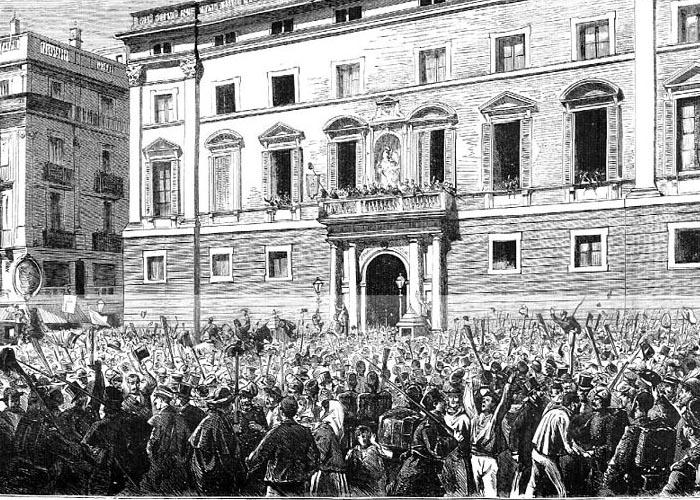 Провозглашение республики в Барселоне (площадь Святого �акова)
