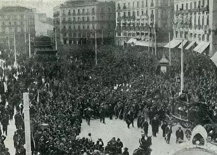 Забастовка в Мадриде в 1920 г.