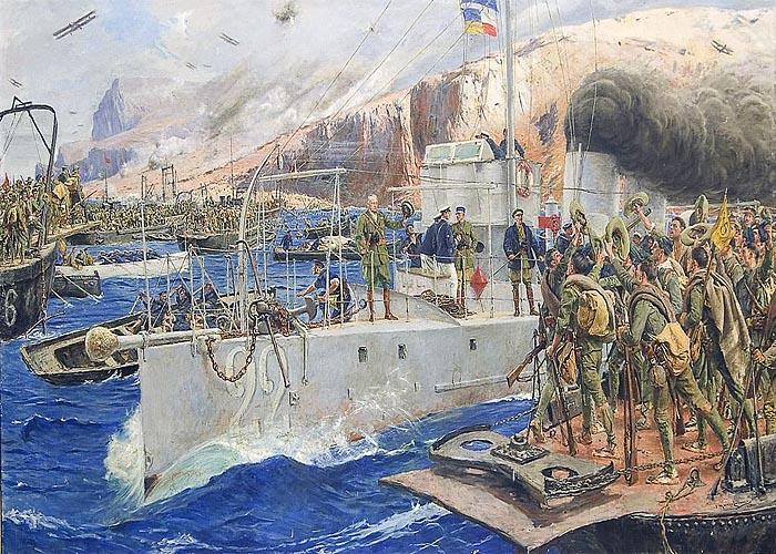 Рифская война (1921 - 1926 г.г.). Высадка испанского десанта в Алусемасской бухте