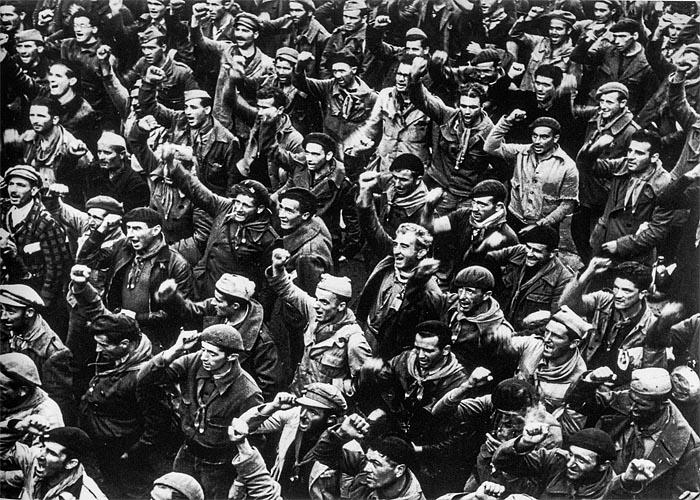 Манифестации рабочих в �спании в 1936 г.