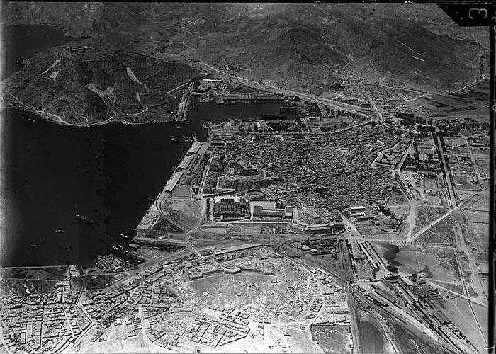 Аэрофотоснимок Картахены снят 18 июня 1936 года, за месяц до начала гражданской войны