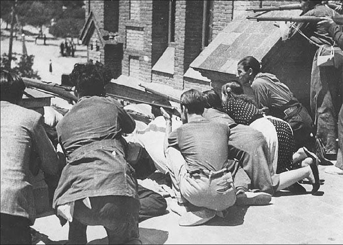 Уличные бои в Мадриде, 1936 г.