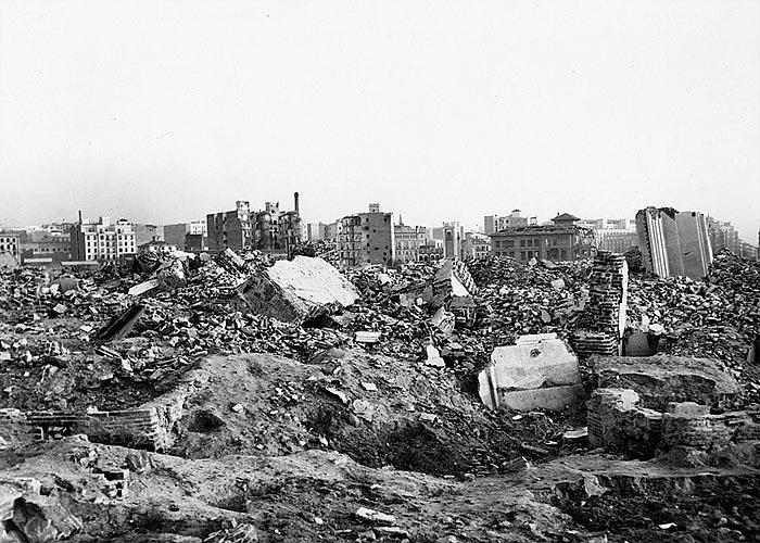 Мадрид после авиаударов 1936 г.