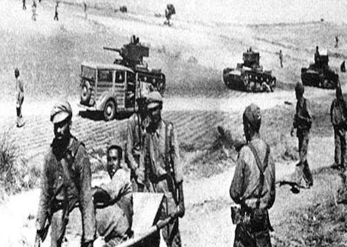 Гражданская война в �спании 1936 - 1939 г.г. (битва при Брунете, июль 1937 г.)