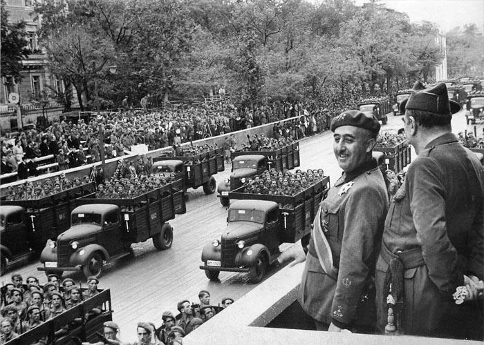Парад франкистов в Барселоне (1939 г.)