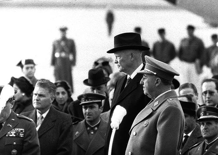 Ф.Франко и Президент США Д.Д. Эйзенхауэр (1959 г.)