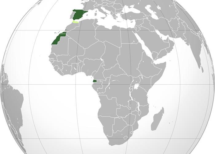 �спанские колонии в 1945 - 1959 г.г.