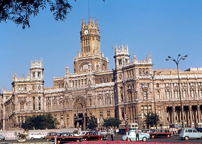 Plaza de la Cibeles в Мадриде (1968 г.)