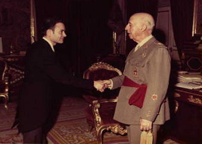 Ф.Франко осуществляет официальный прием (дворец Эль Пардо, 1972 г.)