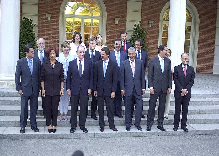 Последний состав правительства Х.М.Аснара (сентябрь 2003 г.)