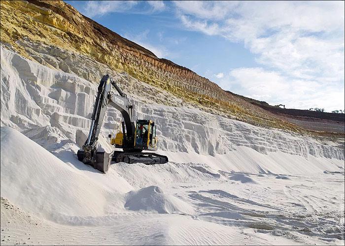 Добыча кварцевого песка в �спании