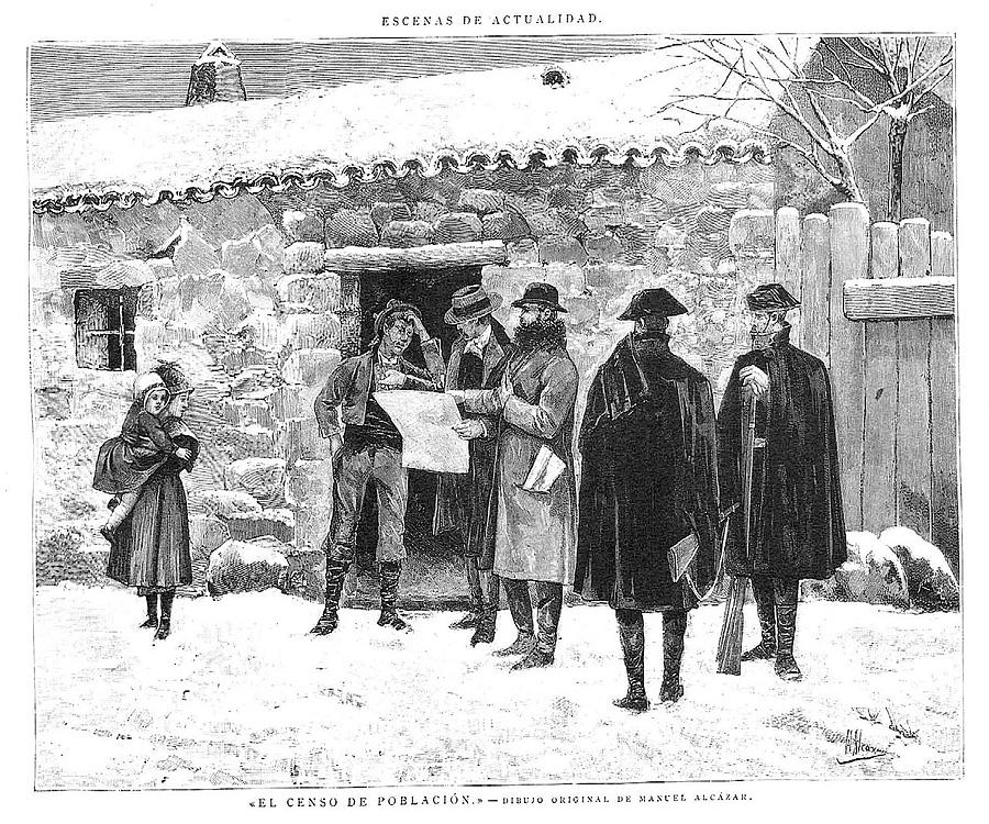 Перепись населения в �спании в 1887 г.