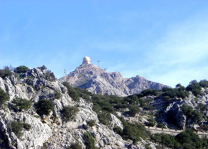 Гора Пуч-Майор - высочайшая точка Балеарских островов (1445 м)
