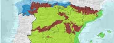 Климатическая карта �спании (климатические зоны)