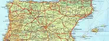 Карта автомобильных дорог �спании