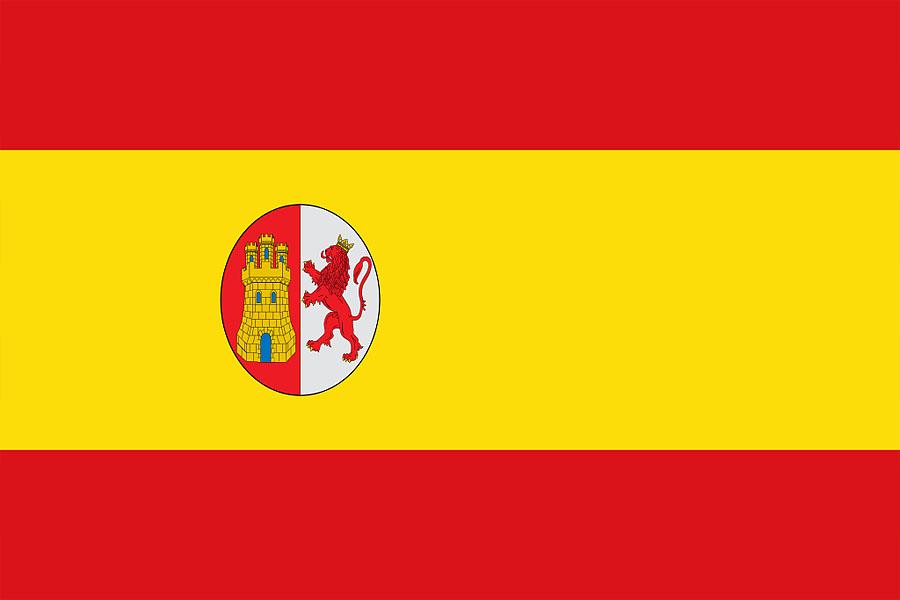 Флаг �спании во время Первой республики (1873-1874).