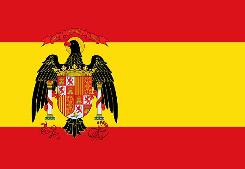 Флаг �спании (1977 - 1981 г.г.)