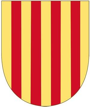 Третья четверть герба �спании - герб королевства Арагон