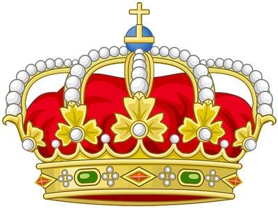 Королевская корона в верхней части герба �спании