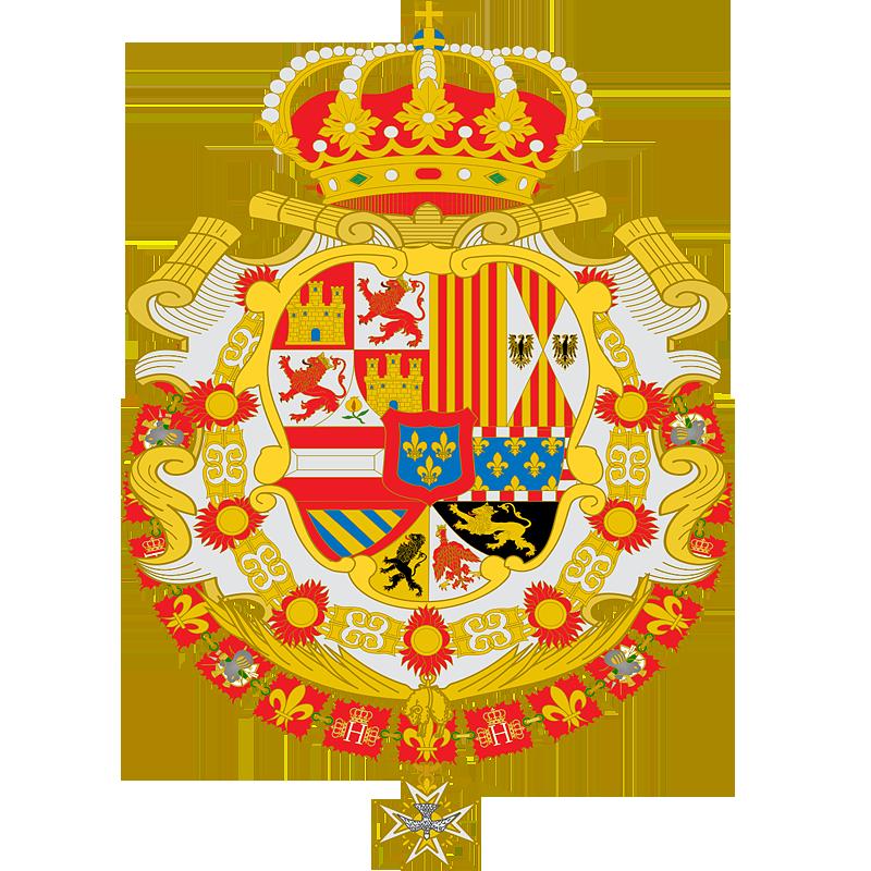 Герб �спании в 1700 - 1759 г.г.