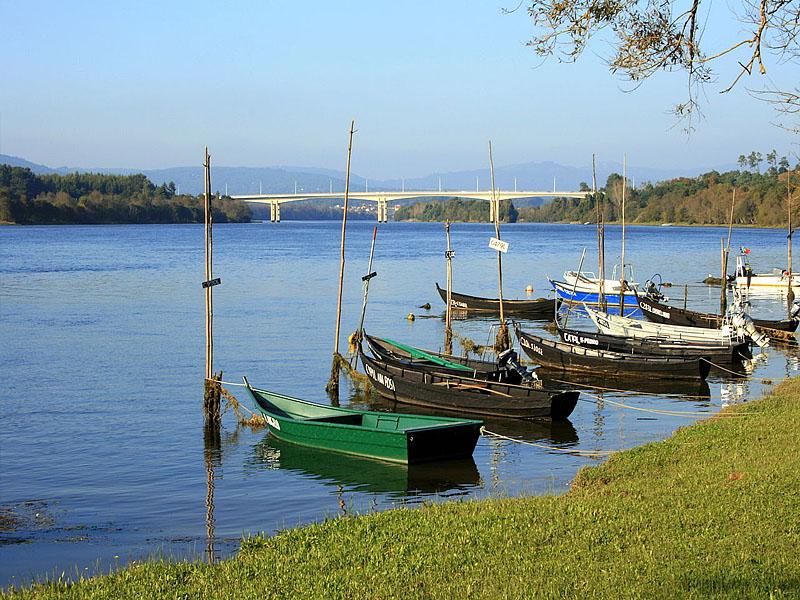 Река Миньо (Miño) в нижнем течении